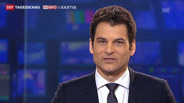 Olivier Dominik moderiert die «Tagesschau»