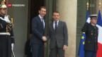 Video «Österreichischer Kanzler besucht Frankreich» abspielen
