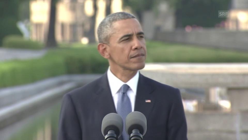 Obama: «Die Lehren aus Hiroshima sind gezogen.»