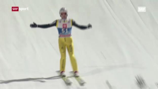 Video «Skispringen: Qualifikation Bischofshofen» abspielen