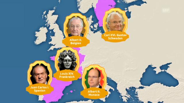 Die europäische Königshäuser und die Polygamie