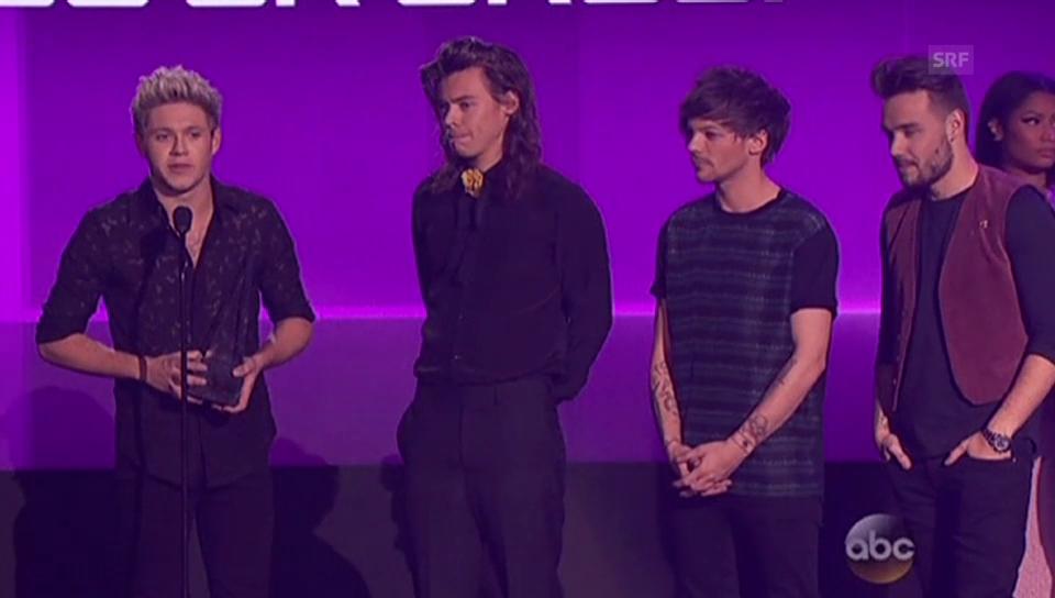 One Direction bedanken sich artig bei ihren Fans