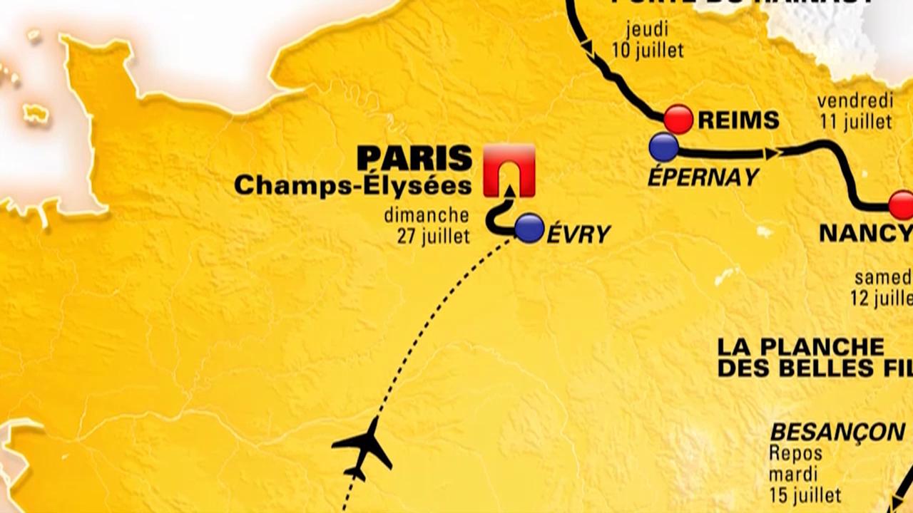 RAD: Streckenplan TdF 2014