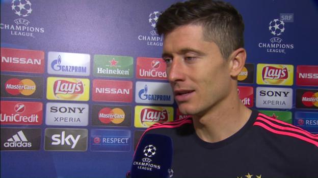 Video «Robert Lewandowski nach der Partie gegen Benfica» abspielen
