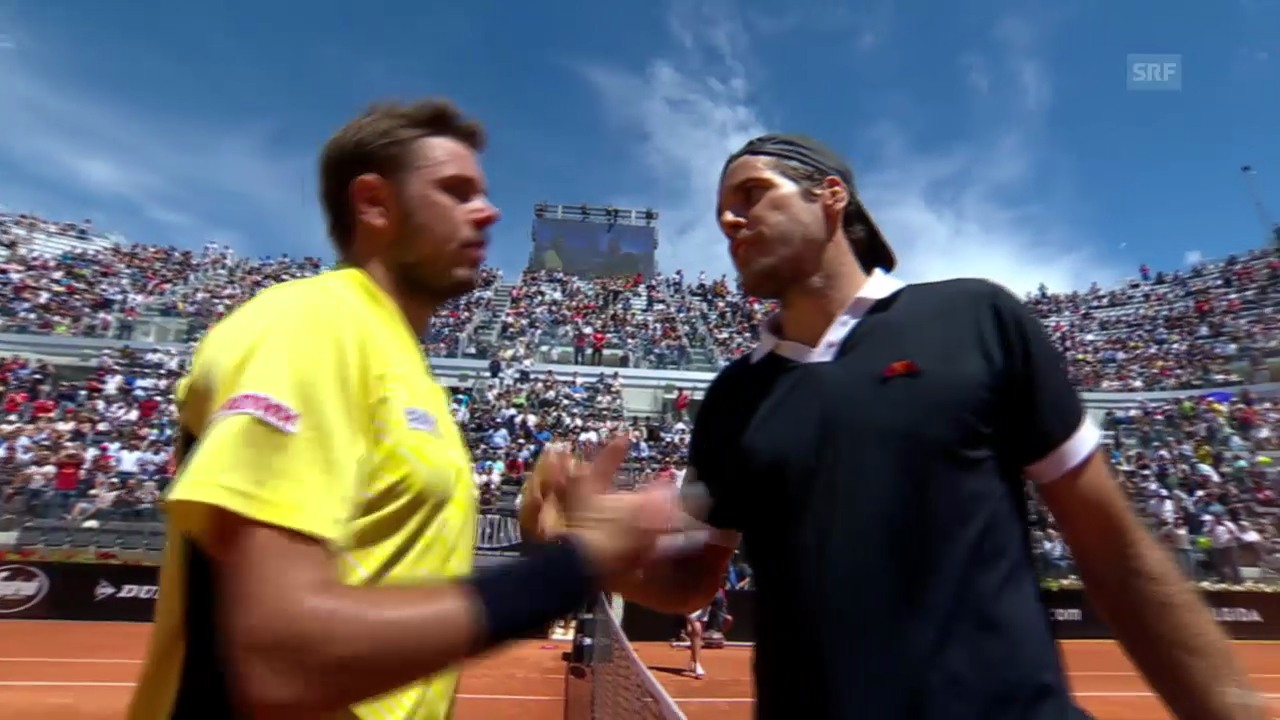 Tennis: ATP Rom, Wawrinka - Haas