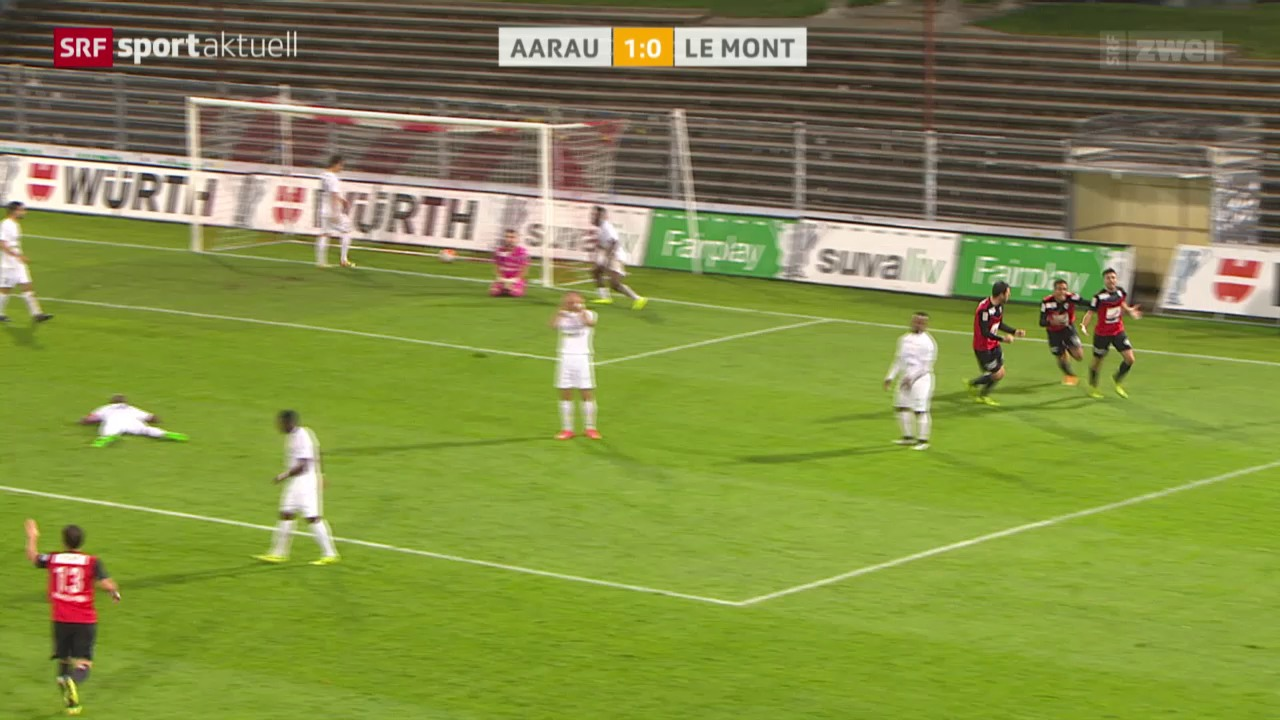 Fussball: Cup, Aarau - Le Mont