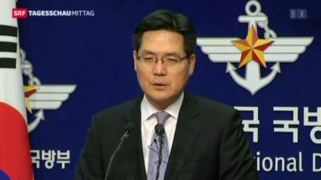 Video «Südkorea reagiert vorerst gelassen auf die zweite Rakete» abspielen
