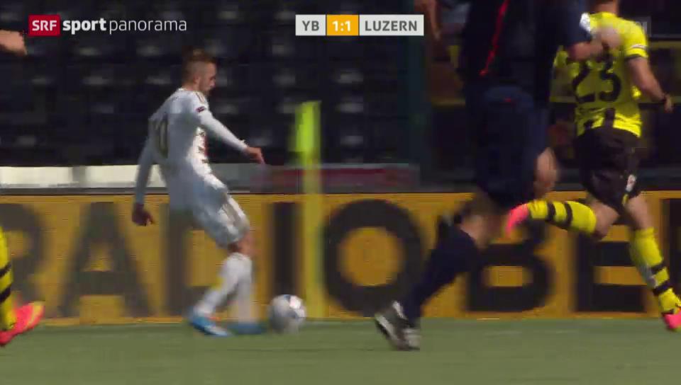 Fussball: YB-Luzern, Assist Jantscher