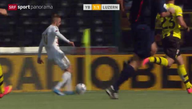 Video «Fussball: YB-Luzern, Assist Jantscher» abspielen