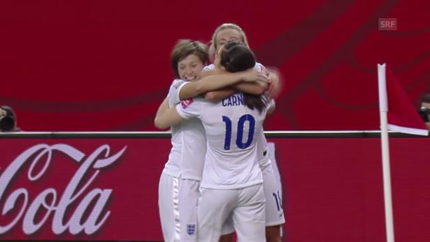 Video «Fussball: Frauen-WM 2015, Gruppe F, England - Kolumbien» abspielen