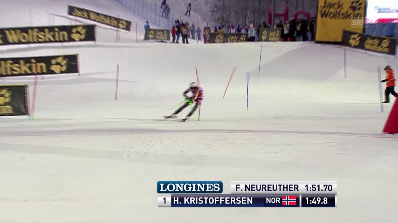 Ski: Der 2. Lauf von Henrik Kristoffersen in Levi