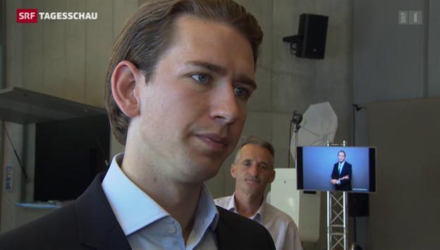 Video «Sebastian Kurz in der Schweiz» abspielen