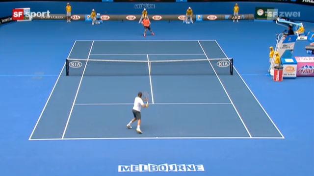 Federer gewinnt im Schnellzugstempo