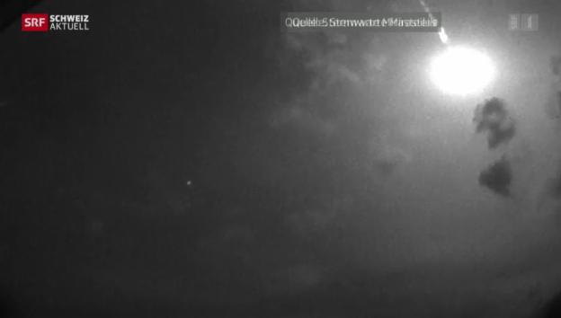 Video «Freude über spektakuläre Meteorbilder» abspielen