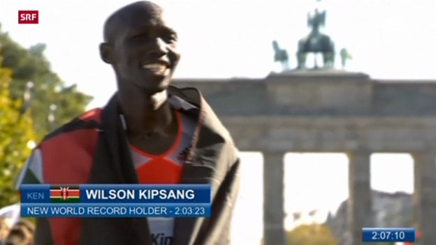 Video «Marathon-Weltrekord in Berlin («sportpanorama»)» abspielen