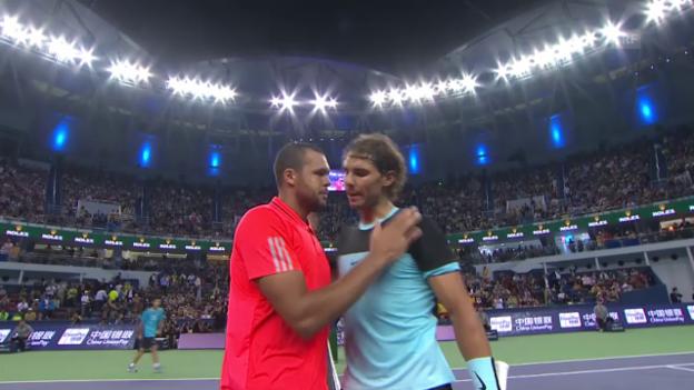 Video «Tennis: ATP-1000 Schanghai, Halbfinal Tsonga - Nadal (Quelle: SNTV)» abspielen