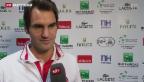 Video «Optimismus bei Roger Federer in Lille» abspielen