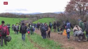 Video «Mazedonien schickt Flüchtlinge zurück» abspielen