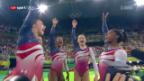 Video «US-Kunstturnerinnen gewinnen mit Rekordvorsprung» abspielen