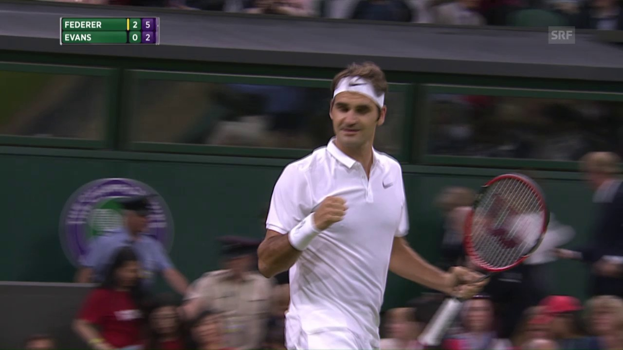 Federer - Evans: Die Live-Highlights