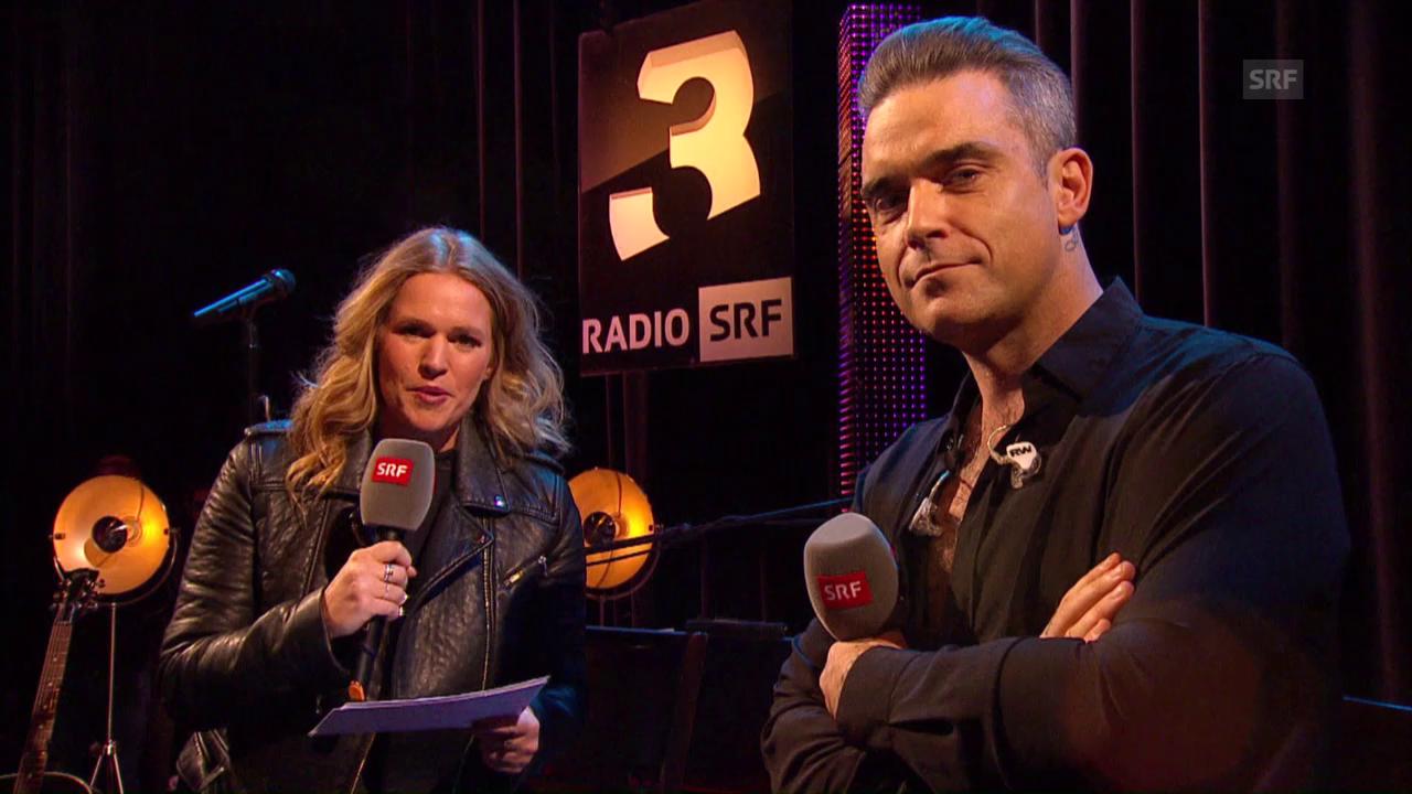 Kathrin Höneggers Talk mit Robbie Williams