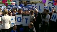 Video «So sieht das Ja-Lager Camerons Visite in Edinburgh» abspielen