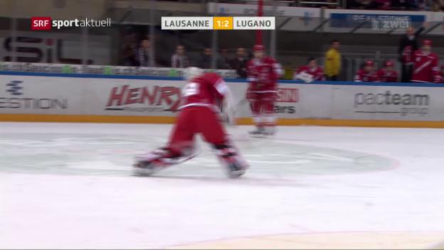 Video «Huet-Lapsus bringt Lugano den Sieg» abspielen