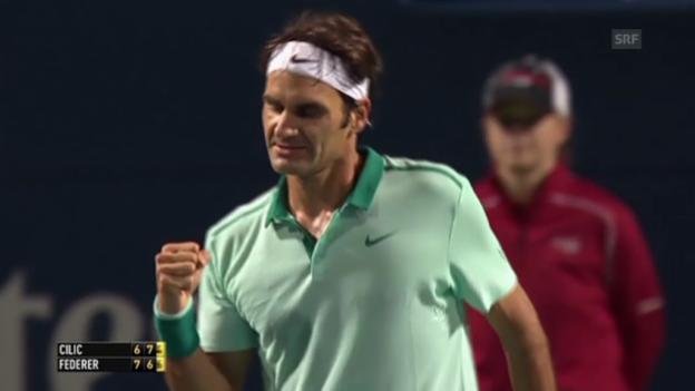 Video «Tennis: Federers Matchball gegen Cilic» abspielen