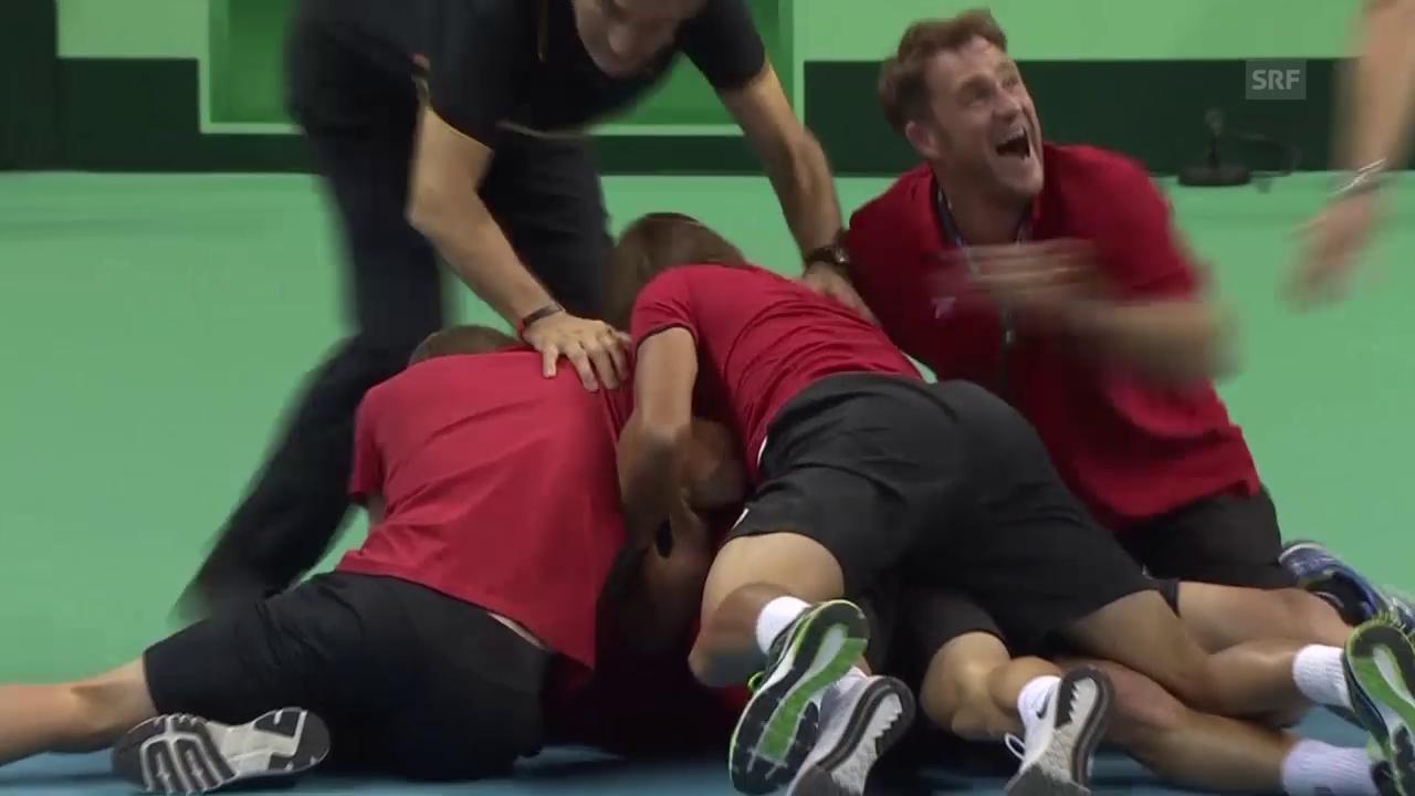 Tennis: Davis Cup, Belgien feiert Finaleinzug