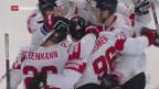 Video «Schweizer Nationalmannschaft im Viertelfinal gegen Schweden» abspielen