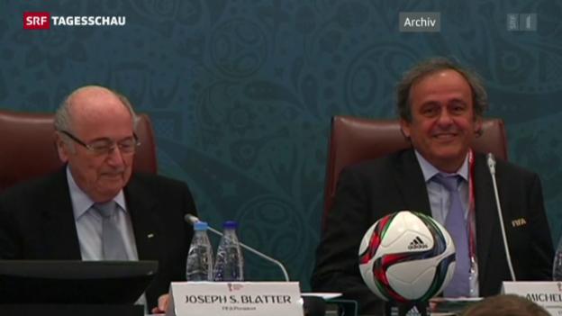 Video «Sepp Blatter sagt vor Fifa-Ethikkommission aus» abspielen