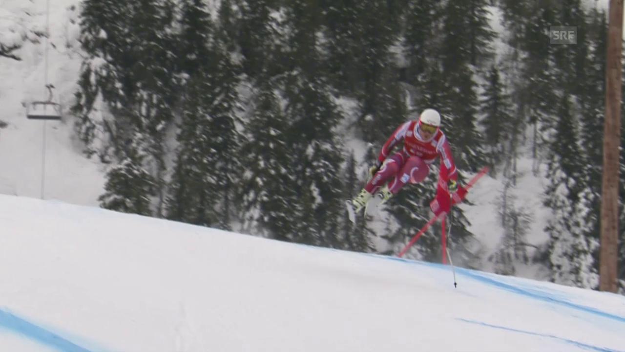 Die Fahrt von Kjetil Jansrud im Super-G von Kvitfjell