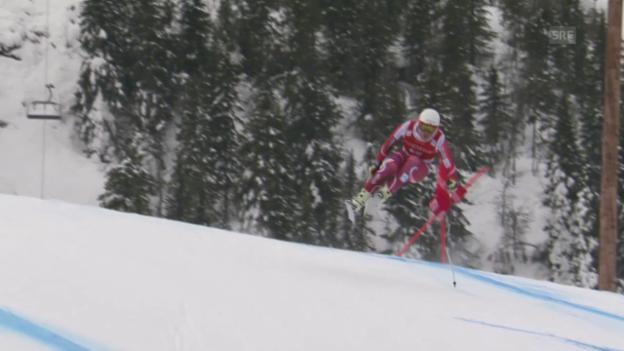 Video «Die Fahrt von Kjetil Jansrud im Super-G von Kvitfjell» abspielen