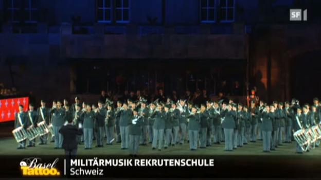 Video «Militärmusik Rekrutenschule Schweiz» abspielen