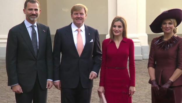 Video «Felipe und Letizia in den Niederlanden: Zu Besuch bei Freunden» abspielen