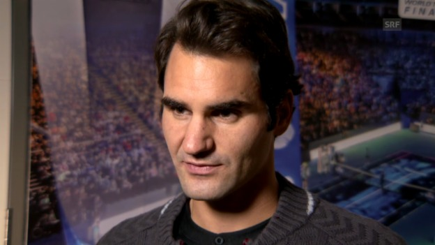 Video «Tennis: ATP Finals, Interview mit Roger Federer» abspielen