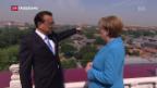 Video «Angela Merkel bemüht sich in China» abspielen