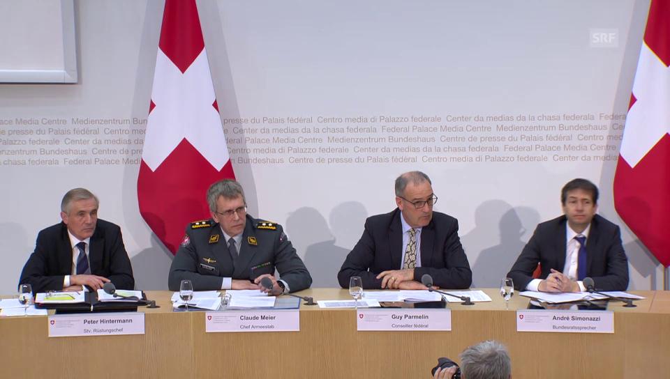 Guy Parmelin zu den Beziehungen zur NATO (französisch)