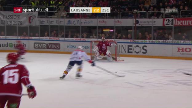 Video «ZSC siegt in Lausanne und baut Tabellenführung aus» abspielen