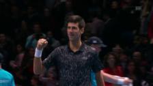 Link öffnet eine Lightbox. Video Djokovic lässt Isner keine Chance abspielen