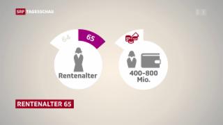 Video «Bundesrat will Frauenrentenalter auf 65 erhöhen» abspielen