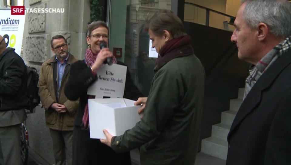Protest bei der «NZZ»