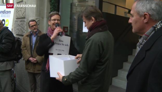 Video «Protest bei der «NZZ»» abspielen