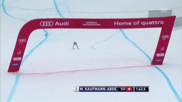 Video «Frauen-Abfahrt Garmisch: Fahrt Marianne Kaufmann-Abderhalden («sportlive»)» abspielen
