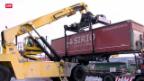 Video «Milliardenprojekt soll noch mehr LKW auf die Schiene bringen» abspielen