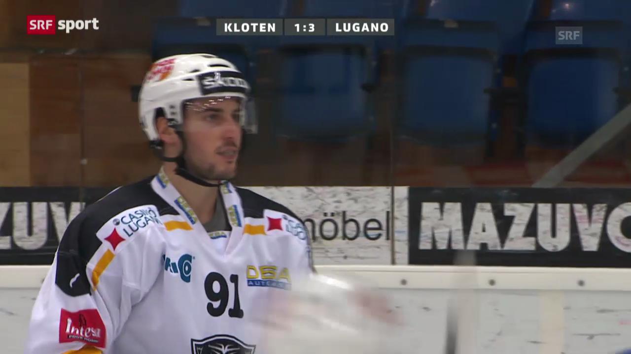 Eishockey: Kloten - Lugano