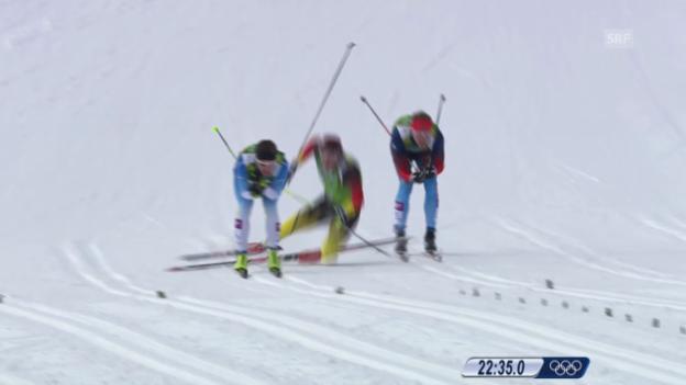 Video «Langlauf: Teamsprint Männer, Final (19.02.2014)» abspielen