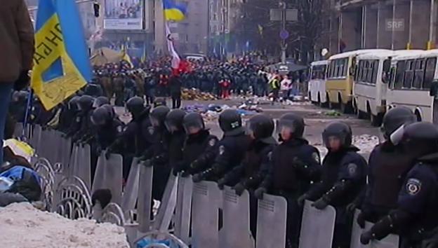 Video «Die Ereignisse in Kiew (unkommentiert).» abspielen