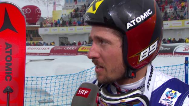 Video «Weltmeister Hirscher: «Ein saumässig anstrengendes Rennen»» abspielen