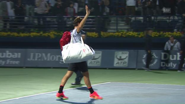 Video «Federer scheitert in Dubai an Qualifikant Donskoi» abspielen